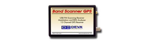 Band Scanner GPS - FM Band Spectrum & Mod Analyzer, RDS/RBDS Decoder-Reader with built-in GPS Receiver